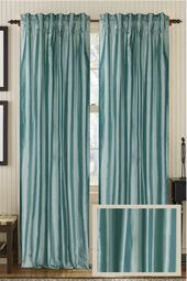 Solid Silk Curtain Panel :Ready-made or Custom | Best Window Treatments
