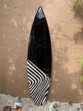 Black and White Surfboard Wall Art / Surf Art / Hawaiian art /   Etsy   – My Pad