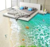 Peinture murale au sol 3D Beach Animals #jardin #deco