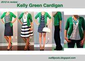 kelly green cardiga