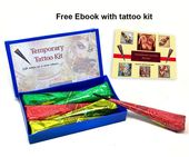 TEMPORARY TATTOO KIT for performing body art HENNA DIY KIT for tattoo designs #A…,  #Art #B…