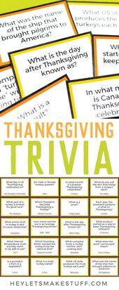 Free Printable Thanksgiving Trivia – Hey, Let's Make Stuff by Cori George