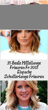 35 Best Medium Long Hairstyles For 2018 – Simple Shoulder Length Hairstyles