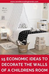 15 economic ideas to decorate the walls of a childrens room