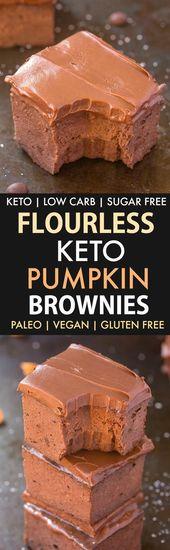 Brownies au potiron sans farine à 3 ingrédients (Low Carb, Keto, Vegan, Paleo, Sugar Fre …