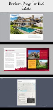 Real estate brochure template. Edit this online very easily, then save the design on your computer as PDF for print #brochureGraphique #Squarebrochure…