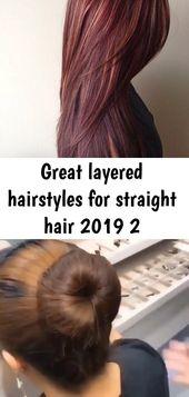 Tolle Lagenfrisuren für glattes Haar 2019 2