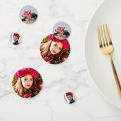 Custom Photo Confetti Party Table Decoration | Zazzle.com