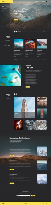 Travel Blog Exploration – Inspire Design | #ui #ux #userexperience #website #w…