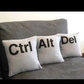Computer, technology humor / geek home decor idea – ctrl alt del pillows (control alt delete) Lol