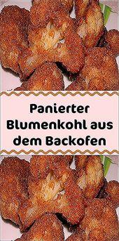 Zutaten 1 Blumenkohl (klein) 2/3 Tasse Semmelbrösel 1/2 TL Knoblauchpulver (ode…