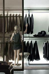 Stylish and elegant minimalist closets