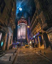 """ilkin karacan karakuş on Instagram: """"Ay gidiyor💙 kukuletalının üstünden 🌓  #galata #fullmoon #istanbul"""""""