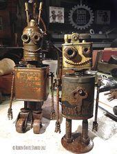 Vintage style robots by RobinDavisStudio – #RobinD …