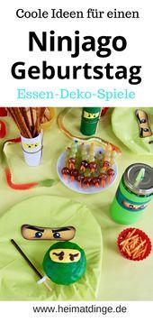 Ninjago Kids Birthday: Coole Ideen für eine gelungene Party   – heimatdinge – Bastel- und Upcycling Ideen für Kinder & Familien