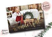 Photo of Es ist ein wundervolles Leben Weihnachten Fotokarte, Foto Weihnachtskarte, Text Overlay, Druckbare, Urlaub