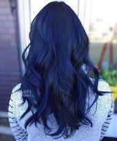 23 verschiedene blaue Haarfarben   – hair