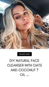 DIY Natural Face Cleanser with Oats and Cocon
