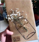 Verpackung/ Glas/ Blumen