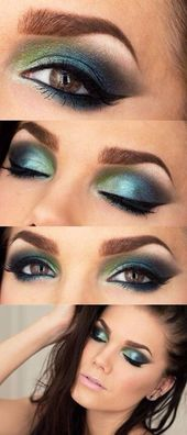 Maquillaje Seahawks   – Make up augen