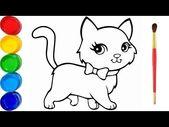 Zeichnen und Färben schöne Katze – Katzen Zeichnen – Wir     D die Farben, Sü… – katzen – #die #Farben #Katze #Katzen #schöne