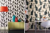 Omega Cats Mod Cat Wallpaper from Sanderson – All Things Home