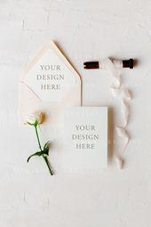 5×7 Wedding Card Mockup, Baby Blue Envelope Liner Mockup, A7 Card Mockup, Wedding Card Mockup, Styled Stock Photography, Wedding Mockup