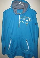 new style 21e90 d2fa4 CAROLINA PANTHERS NIKE REPEL SIDELINE 1/4 ZIP HOODIE ...