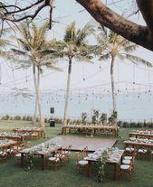 idées de réception de mariage plage romantique #obde # weddingideas2019