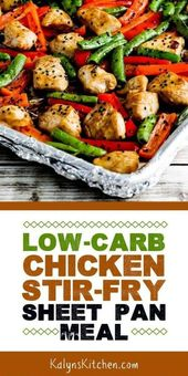 Low-Carb Chicken Stir-Fry Sheet Pan Meal (Video) -…
