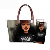 Whereisart girls luggage purses manufacturers african seashore bag bolsa afro black tote luggage pu leather-based purse