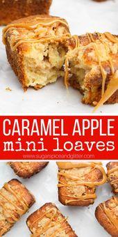 Karamell-Äpfel werden mit diesen Mini-Karamell-Apfel-Streusel-Kuchen …   – Easy Breakfast Ideas