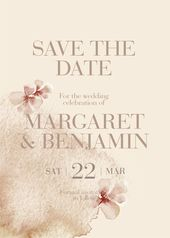 Modern Floral Engagement Proposal, Unique Save the Date   – Wedding Stationery