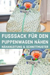 Tutorial: Fußsack für den Puppenwagen nähen