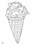 Water Melon Ice Cream Coloring Pages