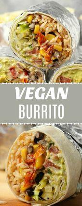 Ein veganes Burrito-Rezept, das super sättigt, hört …