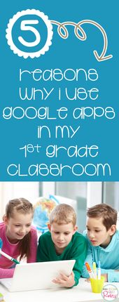 5 Reasons why I use Google Apps in my 1st Grade Classroom – First Grade Roars!