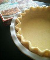 Perfekte hausgemachte Tortenkruste – Pie crust