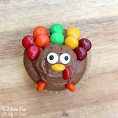 Türkei Cupcakes zum Erntedankfest