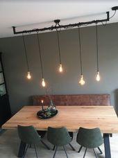 Industrielle coole Lampe der Lichtbalken. Ideal für über dem Tisch in der Küche …   – Industrie ♡ Wohnklamotte