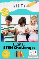 STEM goes digital with these fun and engaging design challenges for each monthly theme. 5 engineering design websites and 60 challenges perfect for gr…