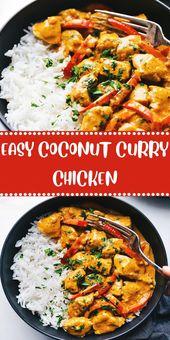 EASY COCONUT CURRY CHICKEN