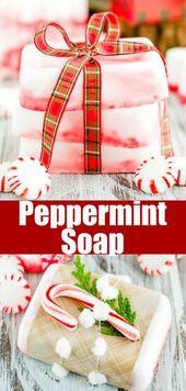 DIY peppermint soap   – Essential oils