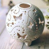 Papillon monarque en céramique ornement lampe décorative   Etsy