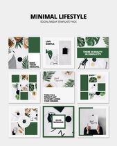 Social media post mockup with lifestyle concept Free Psd