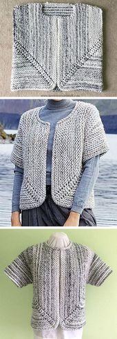 Jutka Cardigan – kostenlose Anleitung    – Free Knitting Patterns    #Anleitung …