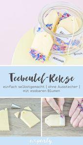 FOOD | Vanille Kekse im Teebeutel Design mit essbaren Blümchen. Dazu braucht'… – Süße Rezepte | Kuchen & Cupcakes selber backen