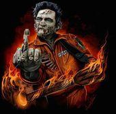 Zombie Cash Johnny Cash Rockabilly Art Johnny