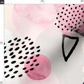 Tela abstracta de helados – Ice Cream Dream de Friztin – Memphis Style Pink Pastel 1990s 1980s Cotto   – Products