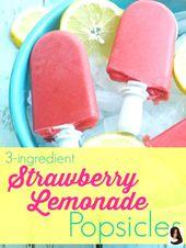 3 ingredientes receta de paletas de limonada de fresa. Una receta de paletas tan simple   – lavender-lemonade
